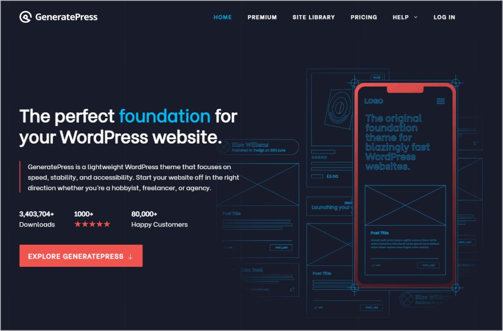 generatepress home page