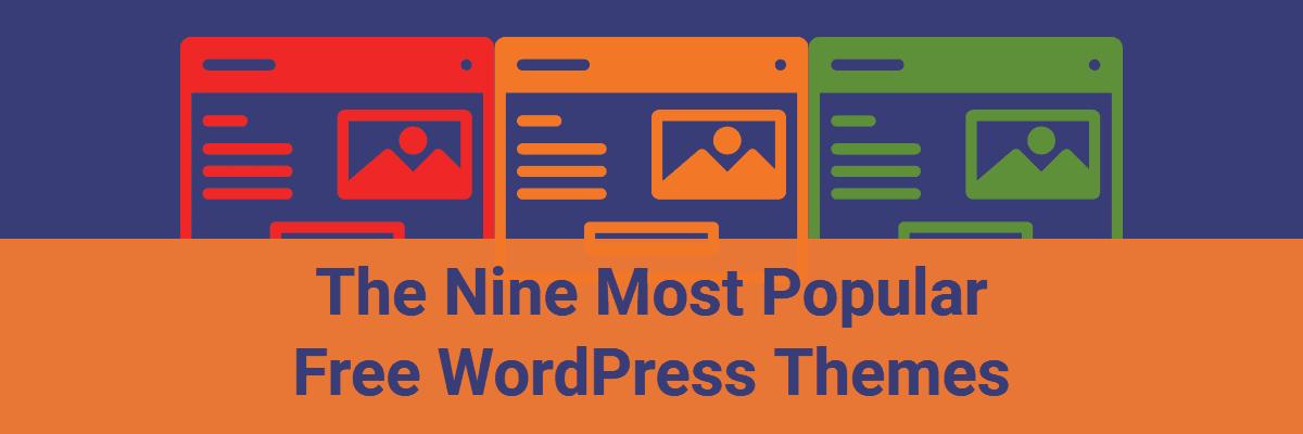 nine most popular free wordpress themes