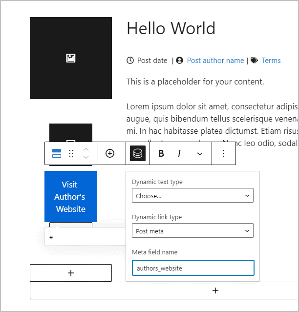 picking dynamic options for button