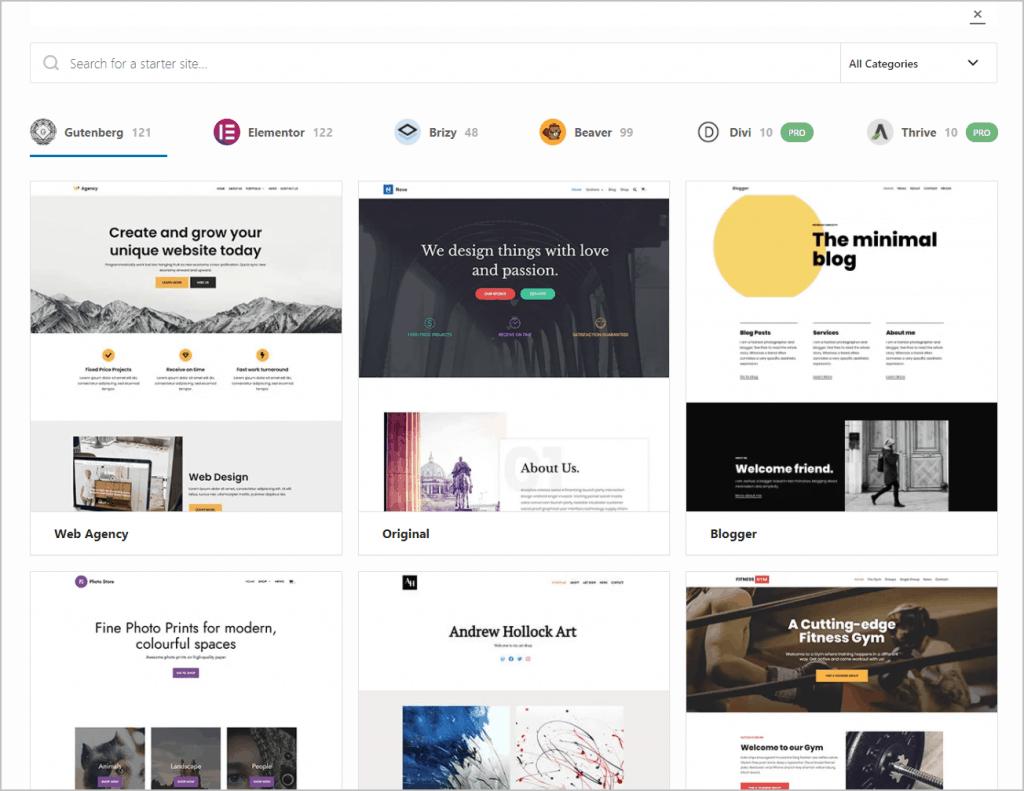 themeisle starter sites
