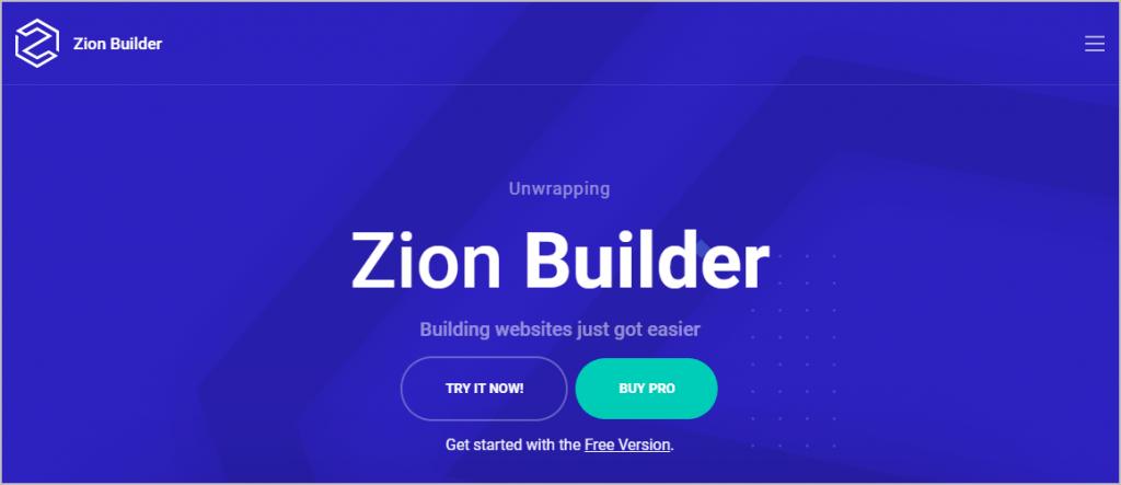 Zion Builder website