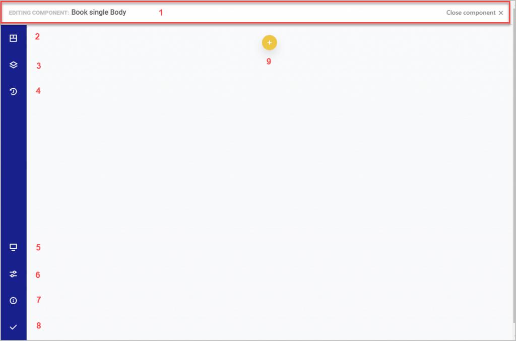 the template editor screen