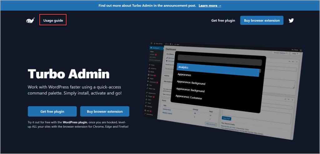 turbo admin website