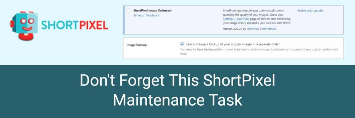 shortpixel maintenance task