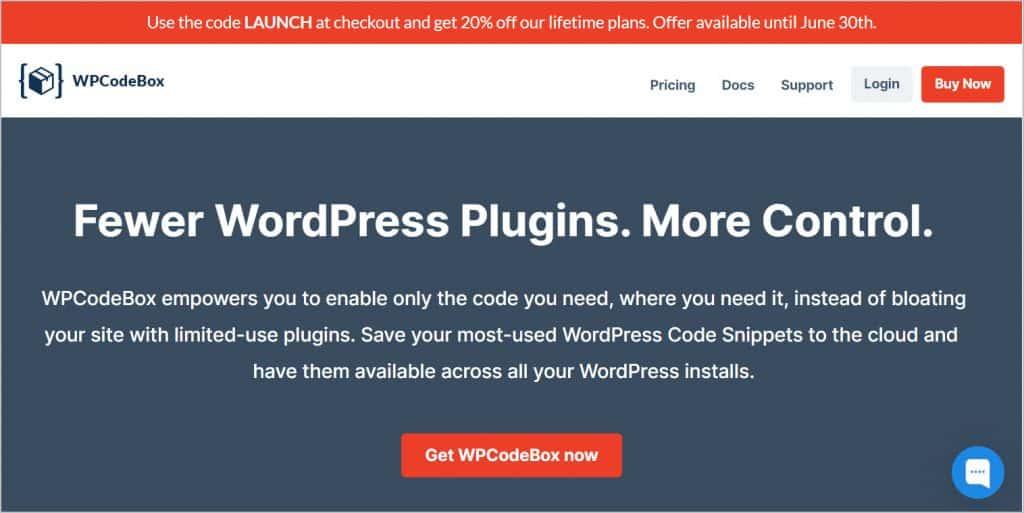 wpcodebox website