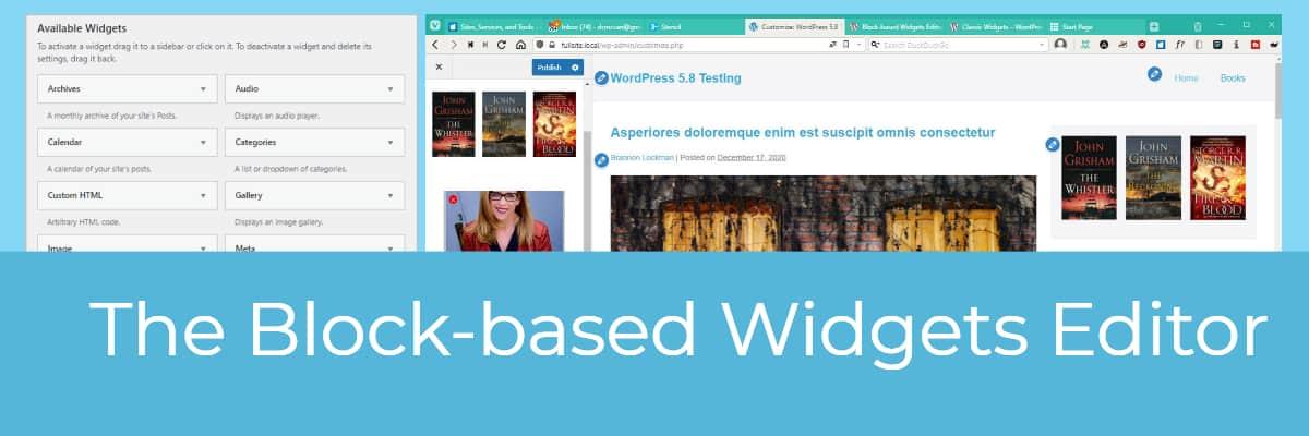block based widgets editor