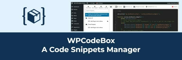 WPCodeBox A Code Snippets Manager