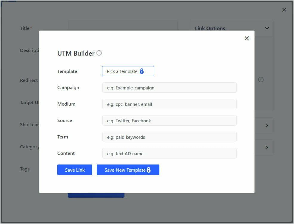 betterlinks utm builder