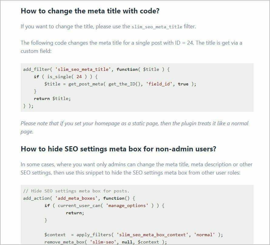 change options with code