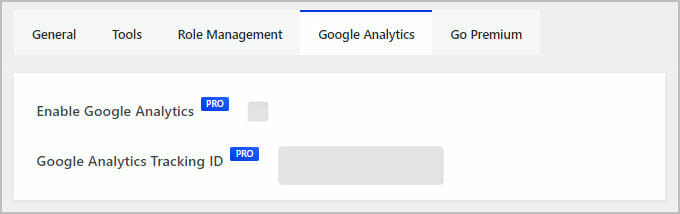 google analytics tab