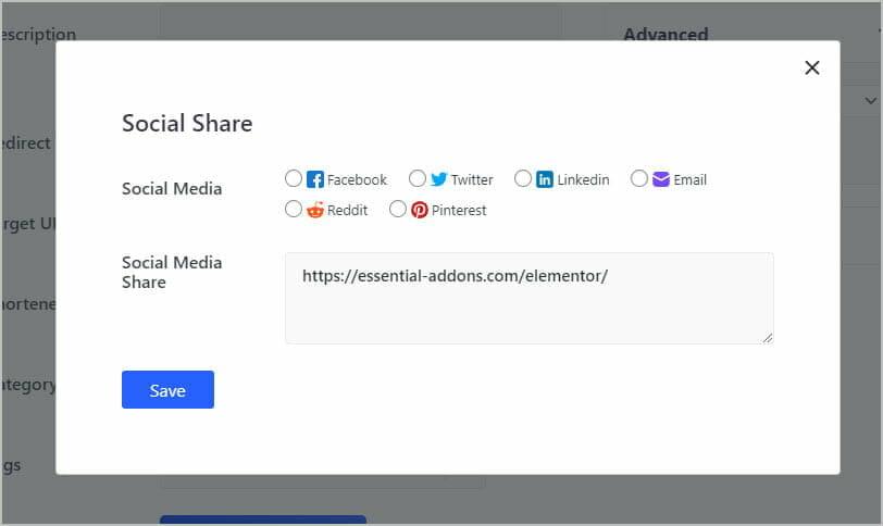 social share options