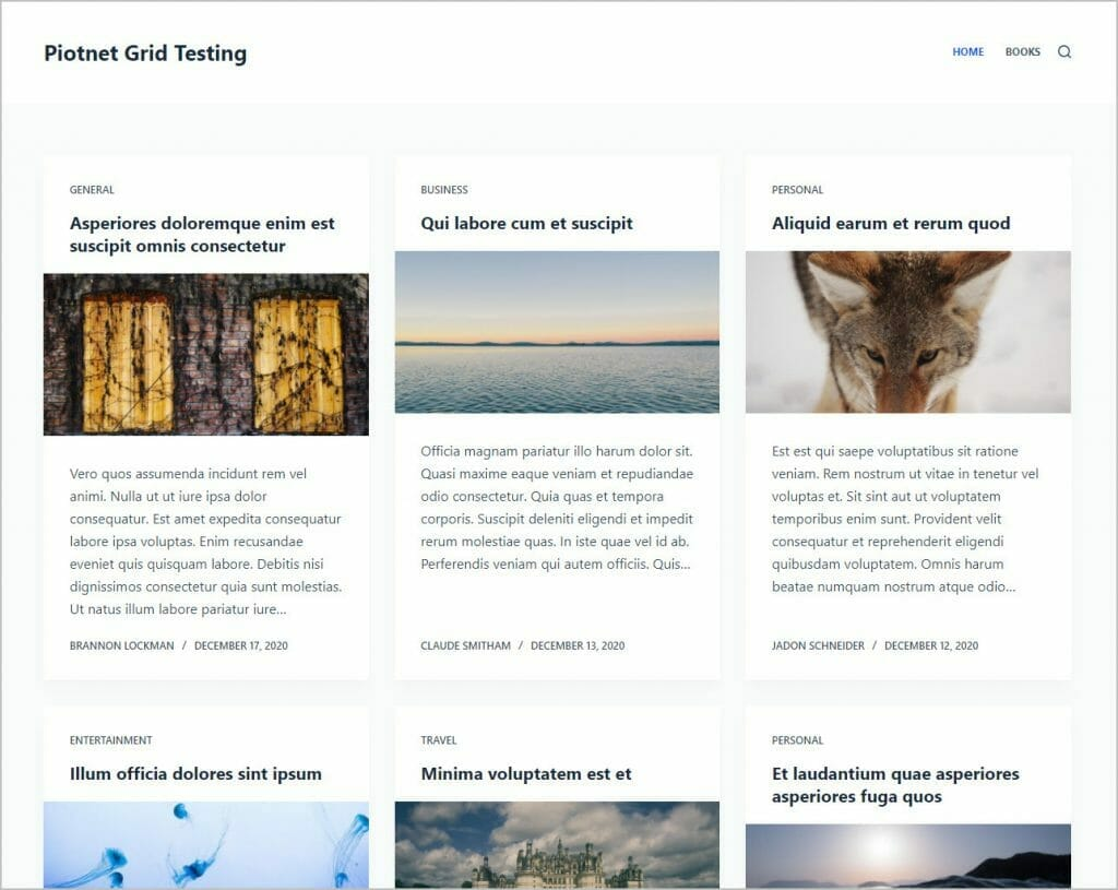 sample site with demo posts